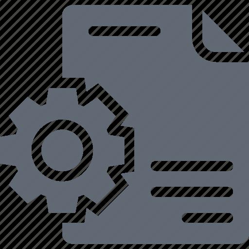 File preferences, processing file, file, file setting, gear icon