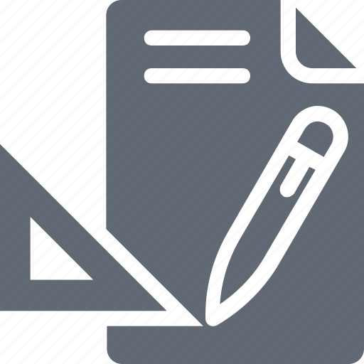blueprint, draft, drafting, drawing, pencil icon
