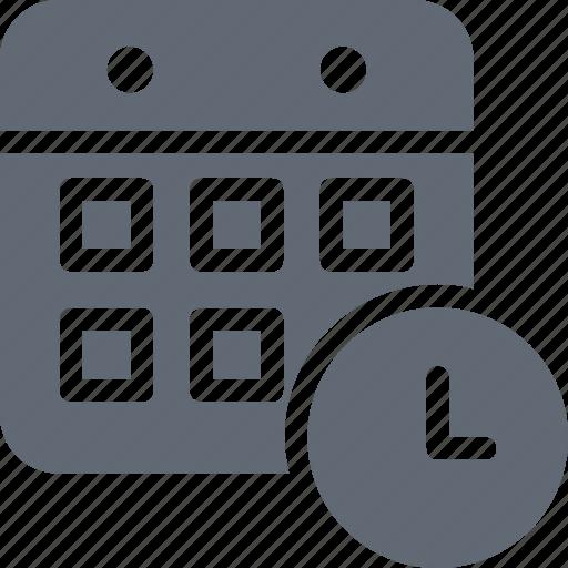 Timetable, schedule, file folder, clock, timeframe icon - Download