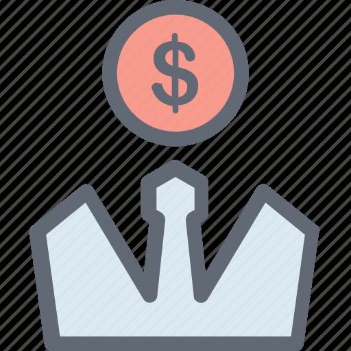 Budget planning, accountant, investor, financier, businessman icon