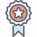 award, award badge, badge, ribbon badge, star badge icon