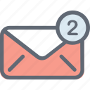 email received, inbox, incoming mail, mailbox, new email icon