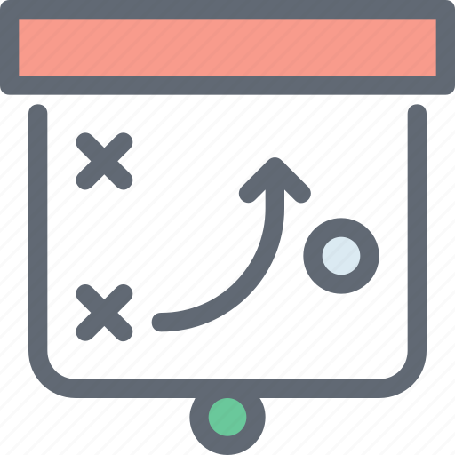 Marketing, clipboard, plan, tactic, strategy icon