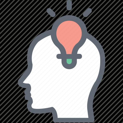 bulb, business, business idea, idea, innovation icon