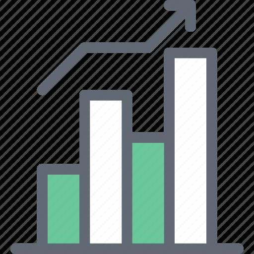 analytics, bar chart, bar graph, dollar, statistics icon