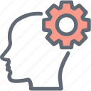 brain, bulb, creative mind, innovative mind, intelligence icon