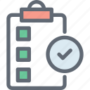 checkmark, document, file, task complete, verified document icon