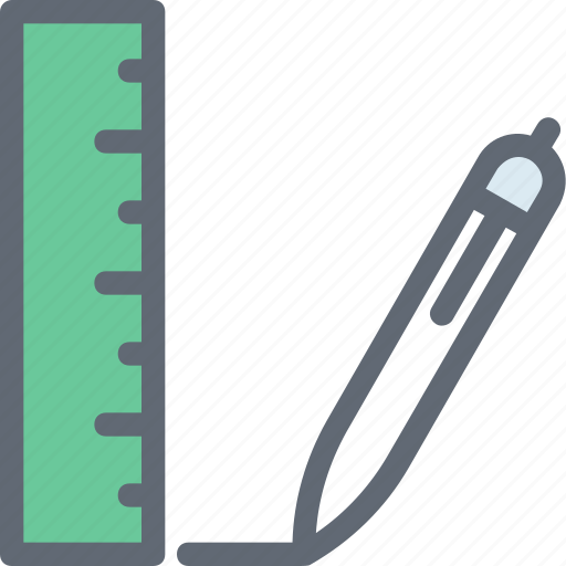 Pencil, drawing tools, draft tools, scale, ruler icon - Download
