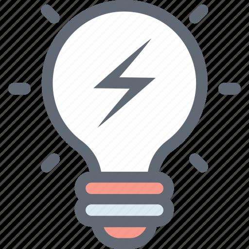 Bulb, creative, illumination, idea, strategy icon - Download