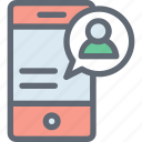mobile, mobile account, mobile development, smartphone, video call icon