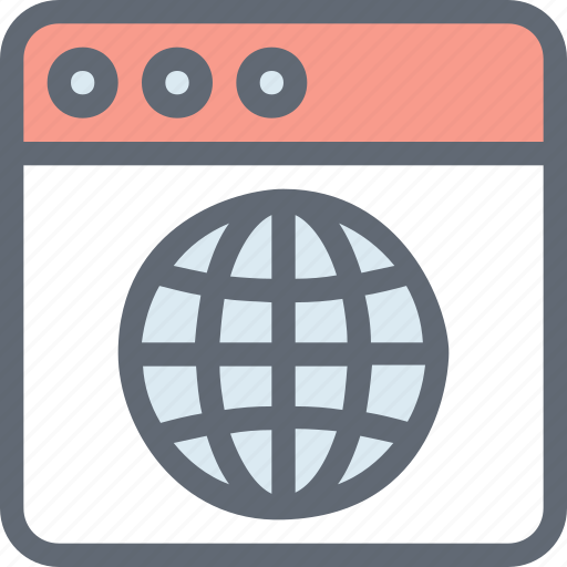 browser, internet search, magnifier, web page, website icon