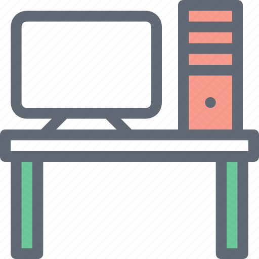 furniture, office, office desk, office material, workstation icon