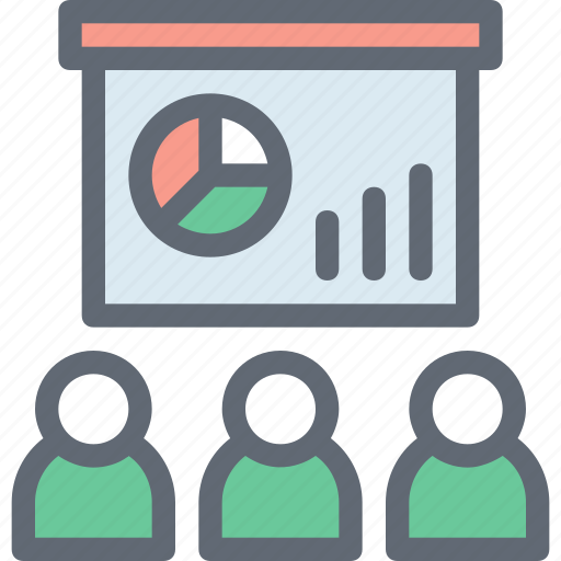 analysis, analytics, business chart, business presentation, projection screen icon