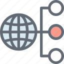 internet connection, internet server, networking, web client, web hosting icon