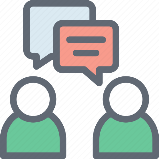 Speech bubble, talking, discussing, users, communication icon