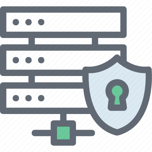 data protection, network security, secure database, server security, shield icon