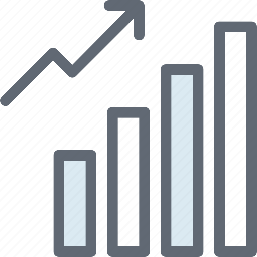 bar chart, business growth, graph, growth chart, progress chart icon