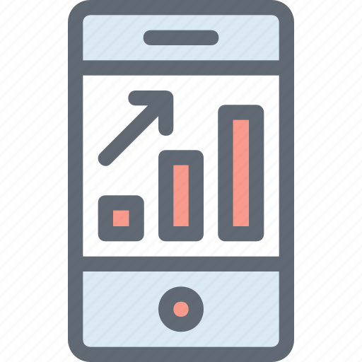 Mobile, analytics, infographic, online graph, mobile graph icon