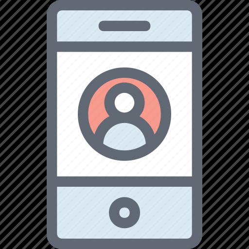 live call, mobile, mobile account, mobile login, video call icon