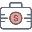 currency bag, dollar bag, finance, money, money bag icon
