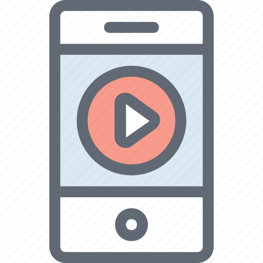 cellphone, media player, mobile, mobile media, mobile video icon