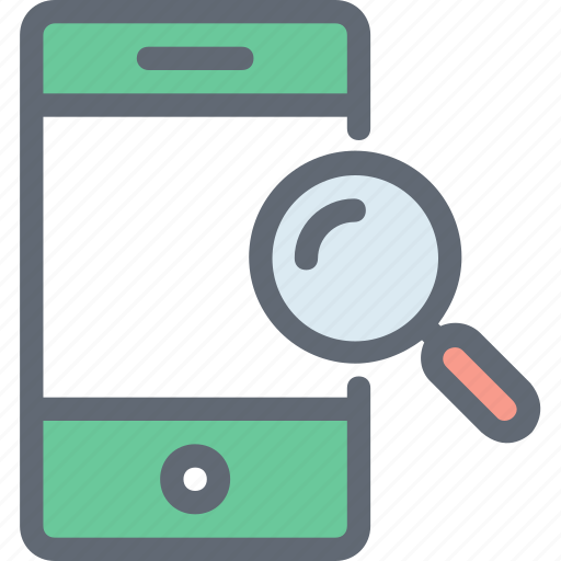 magnifier, mobile scanning, mobile ui, search mobile, smartphone icon