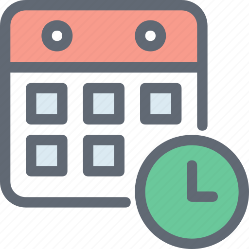 clock, file folder, schedule, timeframe, timetable icon