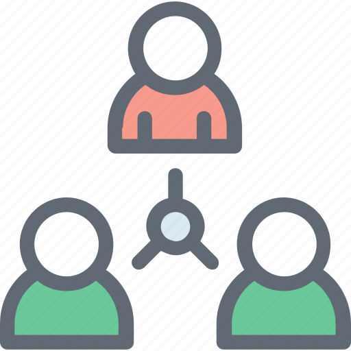 Group, collaboration, organization structure, network, team icon