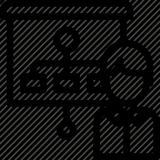 avatar, business, diagram, management, planning, present, presentation icon