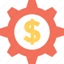 banking, cog, dollar, investment plan, money icon
