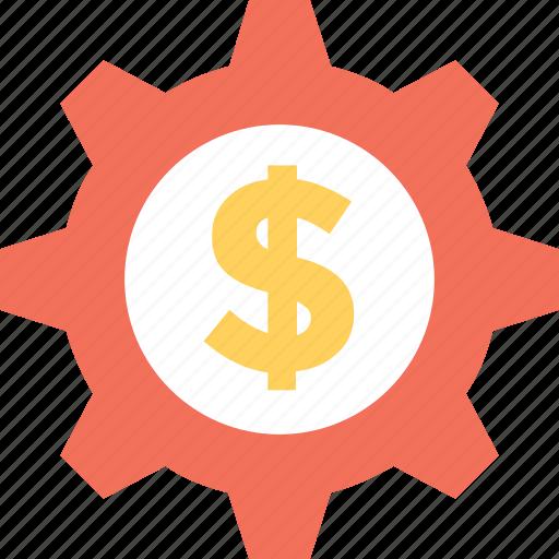 banking, cog, dollar, investment plan, money icon