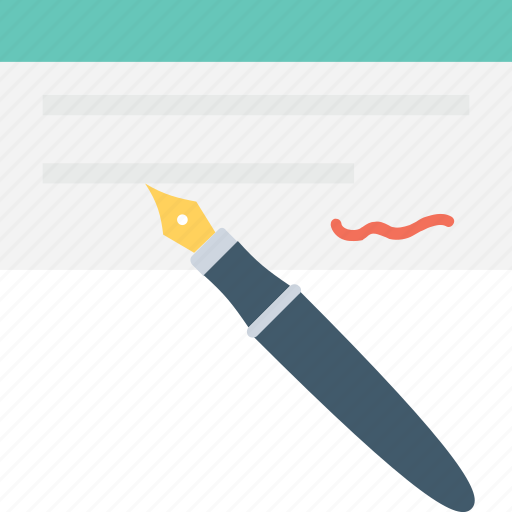cheque signature, paycheck, payment, receipt, voucher icon