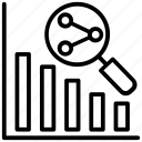 business development, future sales, market analysis, sales forecasting, sales graph icon