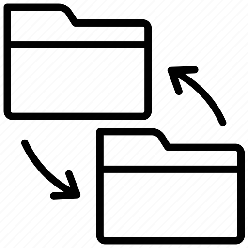 Backup, folder, sharing info, folder sharing, folder sync icon