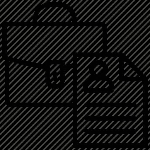 business bag, business case, documents bag, portfolio, project case icon