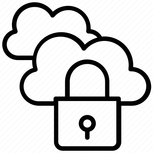 cloud computing, cloud lock, cloud protection, cloud security, data privacy icon
