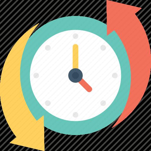 around the clock, clock, clockwise, time left icon