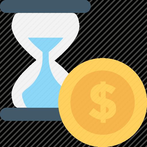 Chronometer, dollar, egg timer, hourglass, timer icon - Download on Iconfinder