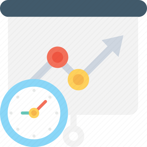 business growth, forecasting, growth chart, profit, time icon