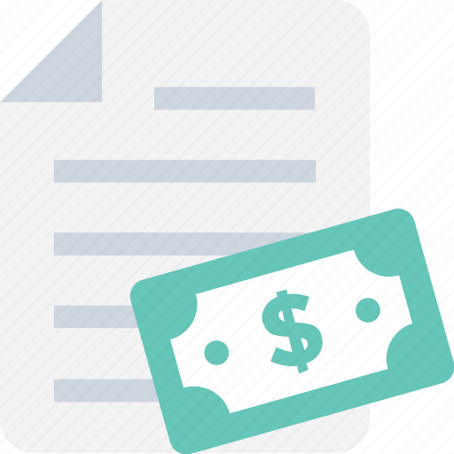 accounting, banking, banknote, document, paper money icon