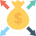affiliate, affiliate earning, dollar, earning, money sack icon