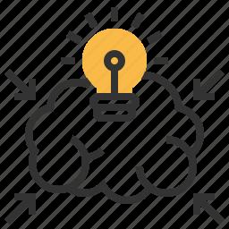 brainstorm, bulb, business, idea, light, power icon
