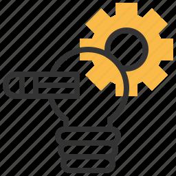 bulb, creative, idea, light, project icon