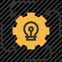 arrow, idea, project, revenue icon