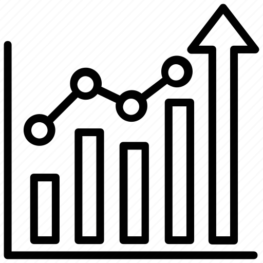 analytics, bar chart, bar diagram, bar graph, growth chart icon