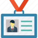 employee card, id card, identification, identity, identity card icon