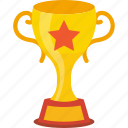 award, prize, star trophy, trophy cup, winning cup icon