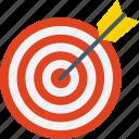 aim, bullseye, dartboard, goal, target icon