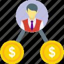 businessman, businessperson, employer, entrepreneur, financier icon
