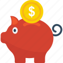 penny bank, cash bank, money box, piggy bank, money bank icon